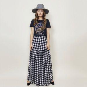 ASOS Gingham Maxi Skirt